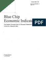 March 2011 Blue Chip Economic Indicators