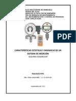 Caracteristicas Dinámicas y Estáticas de un Sistema de Medición