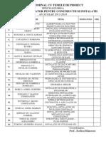 Tabel Nominal Cu Temele de Proiect