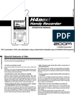 ZoomH4nOperationManual Manual Audio Grabadora