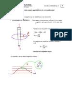 medicion de campo magnético solenoide