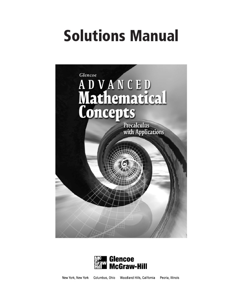 advanced mathematical concepts precalculus with applications worksheets