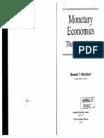 Bennett McCallum - Monetary Economics; Theory and Policy