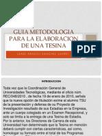 GUIA METODOLOGIA PARA LA ELABORACION DE UNA TESINA.pptx