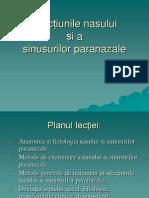 1.Afectiunile nasului şi a sinusurilor paranazale.