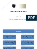 Clase 05 Estructura y Costo de Capital