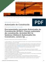 Documentatie Autorizatie de Constructie - Acte Necesare DTAC
