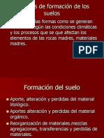Procesos de formación del suelo