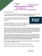 Dossier OMEYA XXI.Campaña escolar teatro 2014