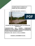 ESTUDIO HIDROLÓGICO E HIDRÁULICO Aucayacu