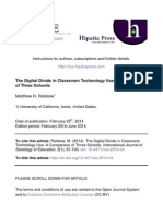 The Digital Divide in Classroom Technology Use