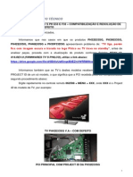 TV ́S PH E53 e F33 Compatibilização e Resolução de defeito