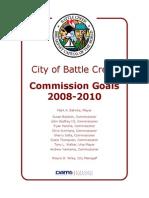 Battle Creek Commission Goals 2008-2010
