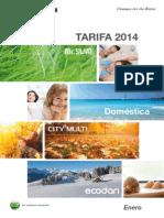 Minitarifa 2014