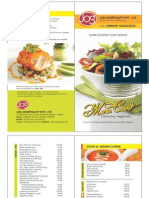 Jog Caterers Menu Card