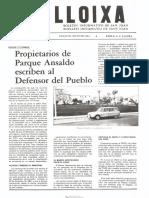 LLOIXA. Número 35, mayo/maig 1985. Butlletí informatiu de Sant Joan. Boletín informativo de Sant Joan. Autor