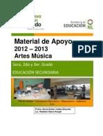 Material de Apoyo, Presentación Música dvd