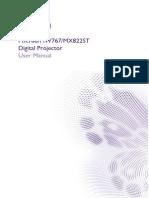 Projector Manual 7439