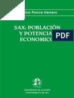 Sax, población y potencial económico