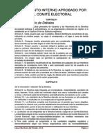 REGLAMENTO INTERNO APROBADO POR EL COMITÉ ELECTORAL