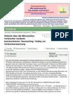 Geocaching - Hobby Zur Verbrechenstarnung - Mikrowellenterror.de