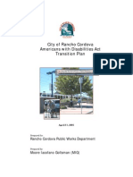 City of Rancho Cordova - ADA Transition Plan - Final