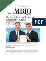 10-03-2014 Diario Matutino Cambio de Puebla - Recibe Gali 172 millones para arrancar la Cruzada.pdf