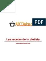 (ebook - recetas cocina) Las recetas de tu dietista - dietas, menús equilibrados, adelgazar, engordar