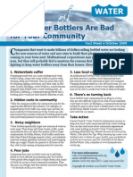 Why Water Bottlers Are Bad for Your Community