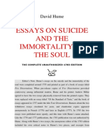 David Hume _ Essays on Suicide and the Immortality of the Soul