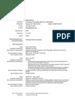Example of Europass CV