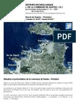 Inventaire archéologique à Santec - France