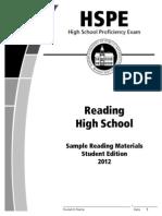 hspe reading practice
