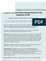 Acupuncture and Electroacupunture for the Treatment of Ra