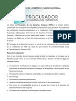 Procuraduria de Los Derechos Humanos Guatemala