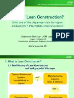 Lean Construction 3 Inokuma