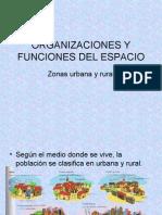 ORGANIZACIONES Y FUNCIONES DEL ESPACIO