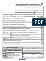 Application for Firearms Purchaser Identification Card and or Handgun Purchase Permit