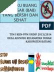 STOP Buang Air Besar Sembarangan (STOP BABS)
