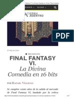 Final Fantasy VI. La Divina Comedia en 16 bits