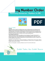 Spring Number Order Math Center Game Place Value