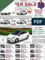 Print Ad Toyota Of Palo Alto Sunnyvale