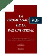 La Promulgacion de La Paz Universal