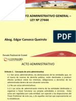 Clases 2, 3, 4 y 5 (Curso Procedimiento Administrativo General)