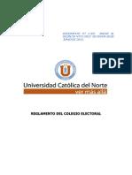 Reglamento Colegio Electoral 2012