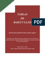 TABLAS DE BAHA'U'LLAH