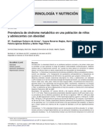 sidrome metabólico en niños y adolesc