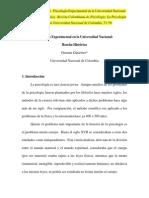 1999 Psicologia Experimental en La U Nacional de Colombia