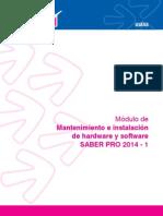 Mantenimiento e Instalacion de Hardware y Software 2014-1