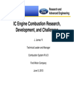 IC Engine Combustion Research, Development, and Challenges